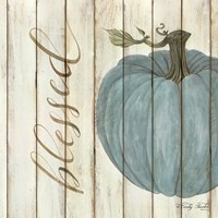 Blessed Blue Pumpkin Fine Art Print