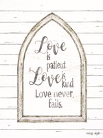 Love is Patient Arch Fine Art Print