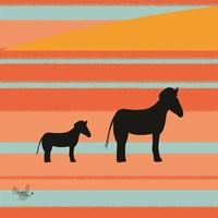Safari Sunset 1 Fine Art Print