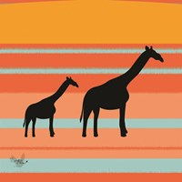 Safari Sunset 2 Fine Art Print
