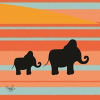 Safari Sunset 3 Fine Art Print