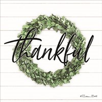 Thankful Boxwood Wreath Fine Art Print