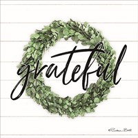 Grateful Boxwood Wreath Fine Art Print