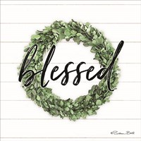 Blessed Boxwood Wreath Fine Art Print