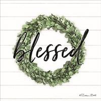 Blessed Boxwood Wreath Framed Print