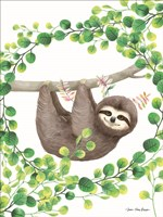 Hanging Around Sloth II Fine Art Print
