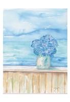 Coastal Hydrangea Ocean View Fine Art Print