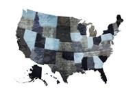 Blues Map Fine Art Print