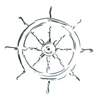 Simple Sketched Wheel Fine Art Print