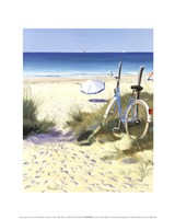Blue Bicycle Fine Art Print