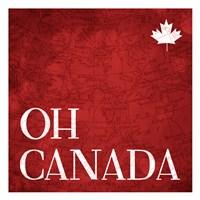 Canada Map Fine Art Print