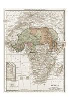 Safari Map Fine Art Print
