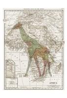 Safari Map 2 Fine Art Print