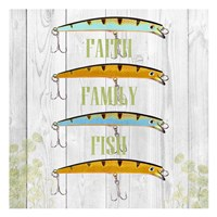 Faith Family Fish Fine Art Print