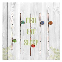 Fish Eat Sleep Fine Art Print