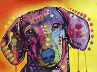 Tilt Dachshund Love Fine Art Print