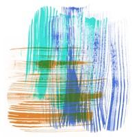 Color Swipe IV Framed Print