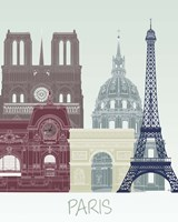 Paris Skyline Fine Art Print