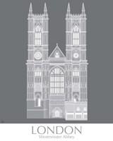 London Westminster Abbey Monochrome Framed Print