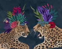 Hot House Leopards, Pair, Dark Framed Print
