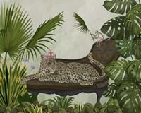 Leopard Chaise Longue Fine Art Print