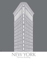 New York Flat Iron Building Monochrome Fine Art Print