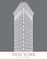 New York Flat Iron Building Monochrome Fine Art Print