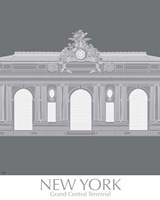 New York Grand Central Monochrome Fine Art Print
