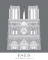 Paris Notre Dame Monochrome Framed Print