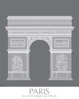 Paris Arc De Triomph Monochrome Framed Print