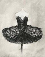 Black Ballet Dress I Framed Print