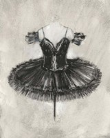 Black Ballet Dress II Framed Print