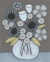 Happy Garden Flowers I Framed Print