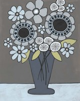 Happy Garden Flowers II Framed Print