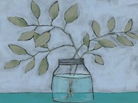 Jar of Stems II Framed Print