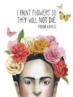 Frida's Flowers II Framed Print
