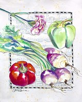 Kitchen Veggies I Fine Art Print