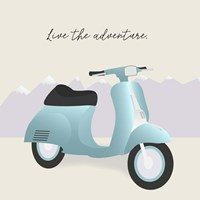Two-Wheel Travel II Fine Art Print