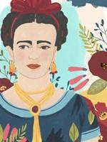 Frida's Garden I Framed Print