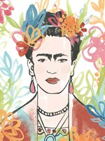Portrait of Frida  II Framed Print