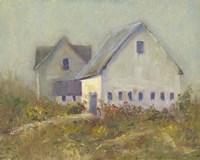 White Barn I Fine Art Print