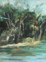 Waterway Jungle I Framed Print