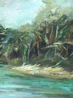 Waterway Jungle II Framed Print