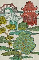 Pagoda Landscape II Framed Print