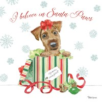 Holiday Paws II Fine Art Print