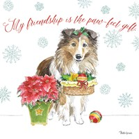 Holiday Paws III Fine Art Print