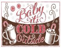 Merry Little Christmas I Brown Fine Art Print