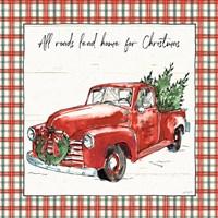 Holiday on the Farm VI Plaid Fine Art Print