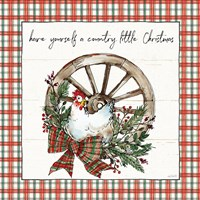 Holiday on the Farm V Plaid Fine Art Print