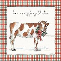 Holiday on the Farm III Plaid Fine Art Print
